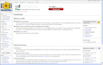 تحميل سكربت  MediaWiki ويكيبيديا