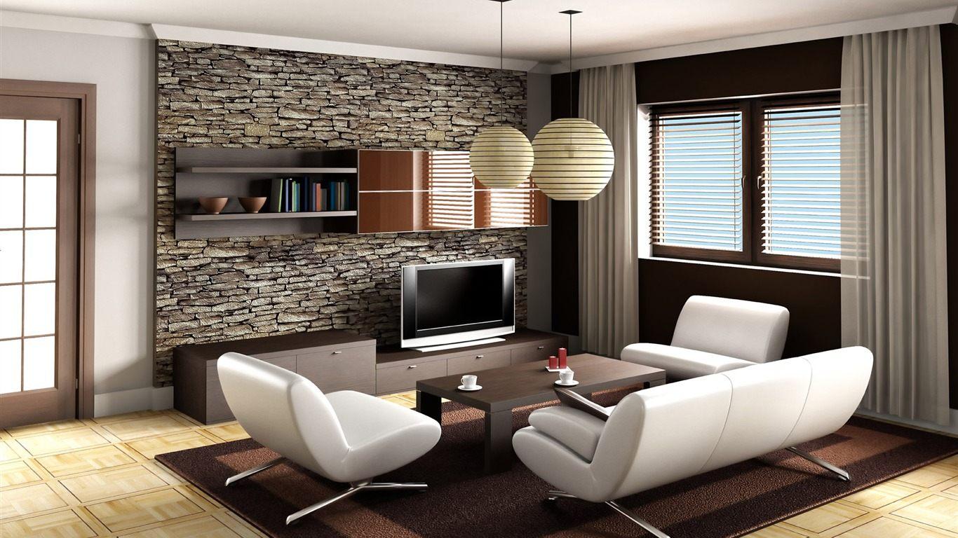 Parede Sala Papel De Parede Na Sala De Estar De Ambientes Clssicos  -> Mural Parede Sala