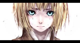 Attack on Titan Shingeki no Kyojin Armin Arlert Anime Crying Blue Eyes Blonde Hair HD Wallpaper Desktop PC Background 1331
