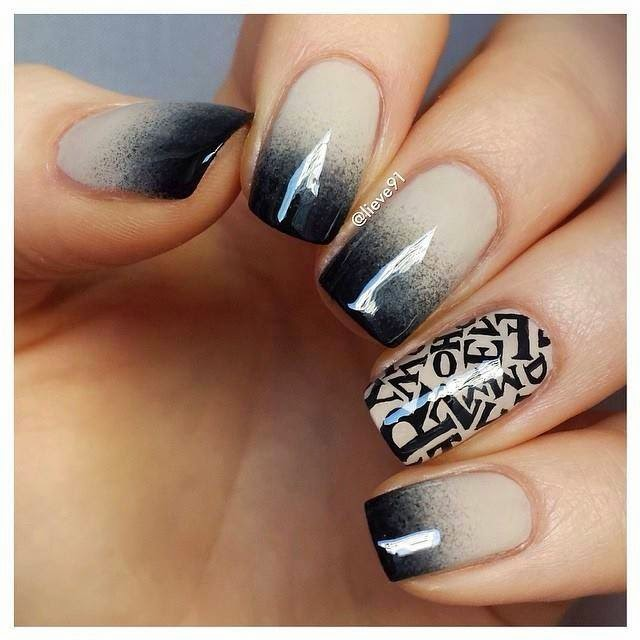 Nails With Dark Colored Tips