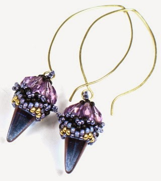 Spike Earrings - Bead & Button 2015