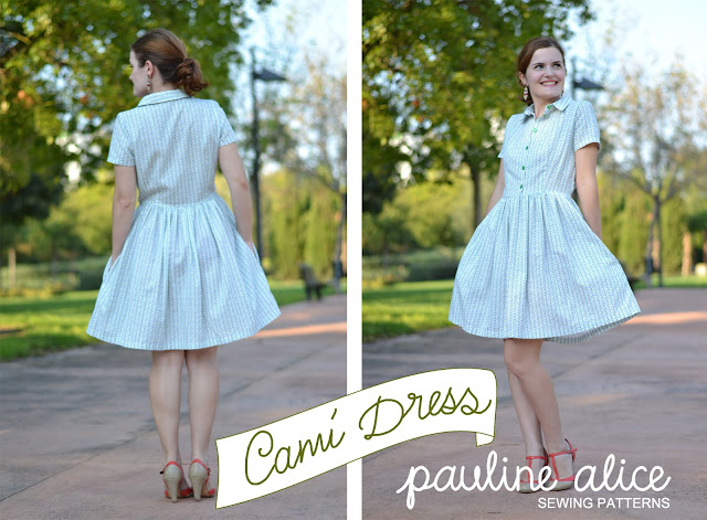 cami dress, pauline alice sewing pattern, sewing pattern, shirt dress