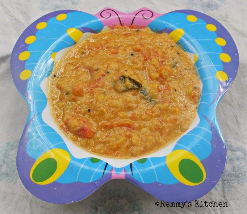 Thakkali parippu kootan / Tomato dal cury