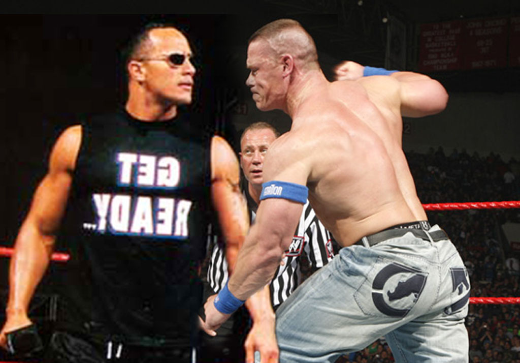 wrestling home john cena and the rock cool pics