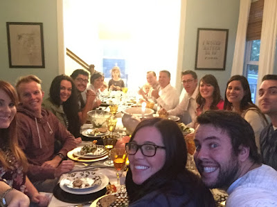 Familydinner BlackFall tablescape, Thanksgiving tablescape, black and white polka dot plates