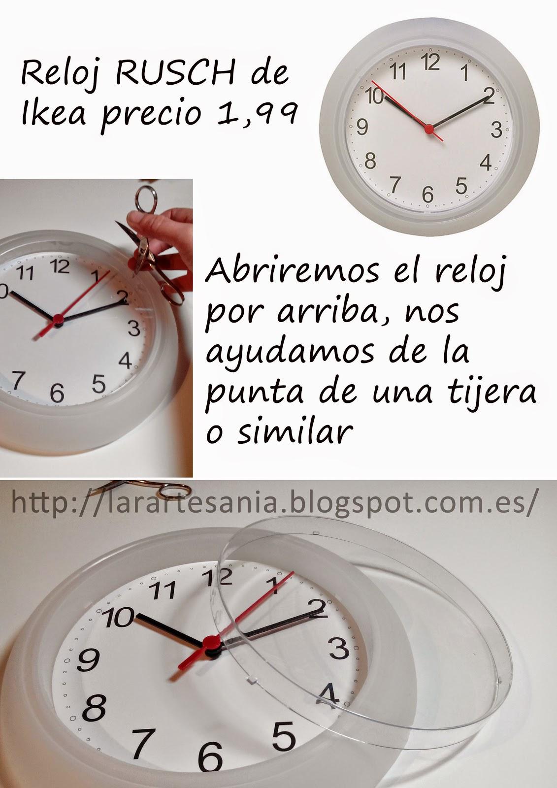 Lara artes tuneando reloj de ikea tutorial - Reloj de pared adhesivo ikea ...
