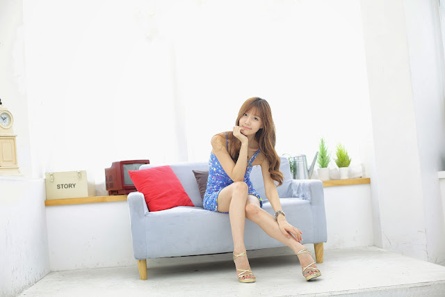 4 Choi Seul Ki - Lovely Seul Ki In Blue Dress - very cute asian girl-girlcute4u.blogspot.com