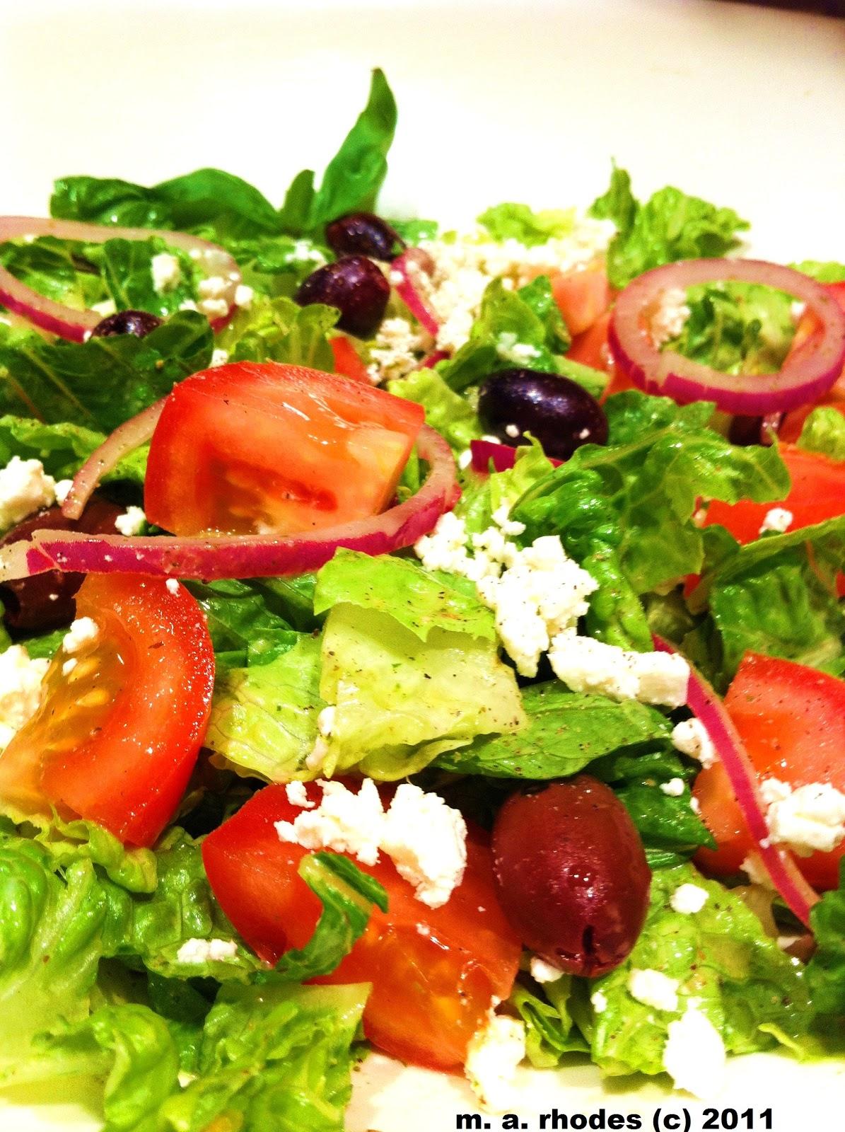 Пошаговый рецепт салата греческий