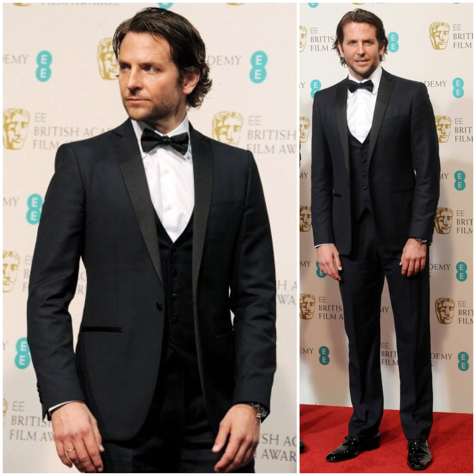 00O00 Menswear Blog Bradley Cooper in Salvatore Ferragamo - 66th BAFTA Awards, London