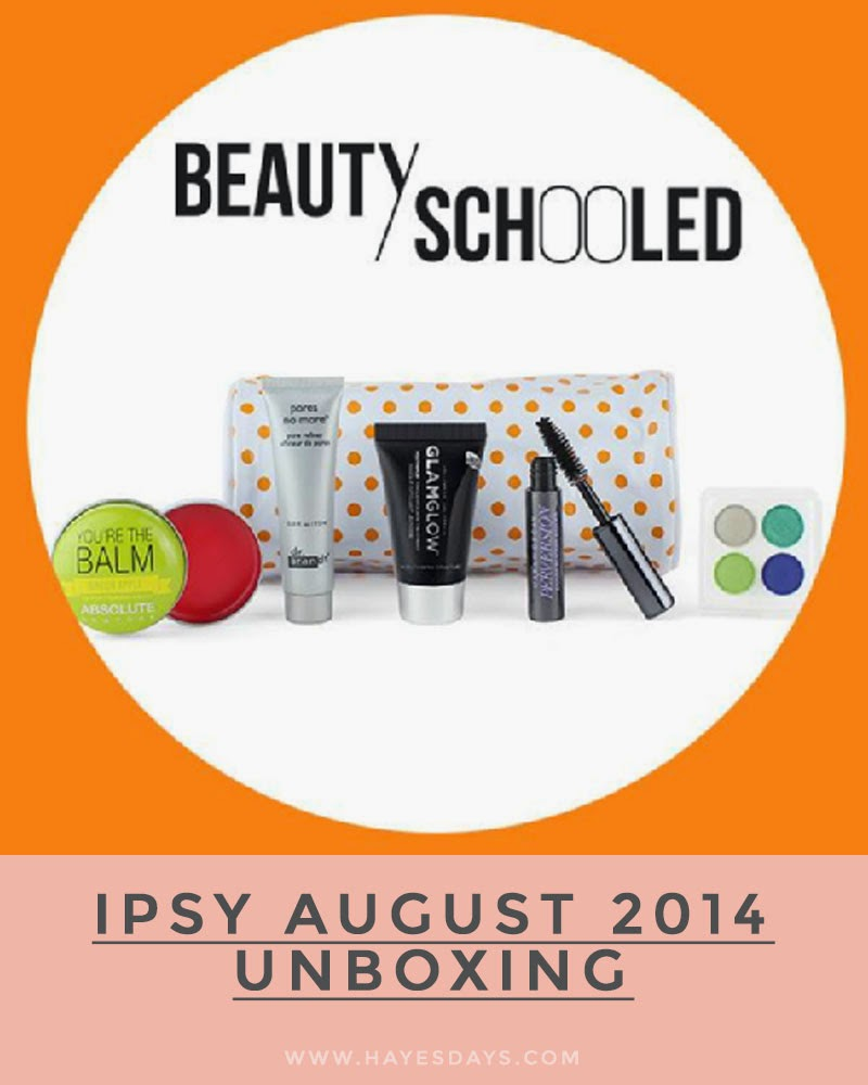 august ipsy glam bag unboxing :: www.hayesdays.com