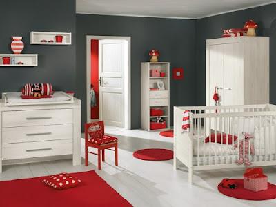 decoración gris cuarto bebé
