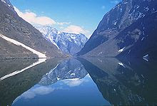 Sognefjord in Norway, the third longest fjord in the world,