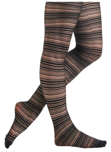 Modcloth nude and black striped stockings