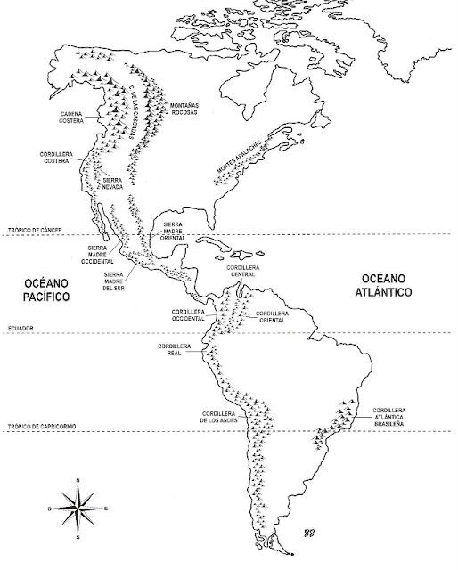 Mapa de continente americano sin nombres - Imagui