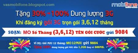 Các gói cước 3G Mobifone thời hạn dài