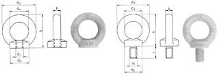 Ringschrauben DIN 580 und 582 im Gesenk geschmiedet, normalisiert
