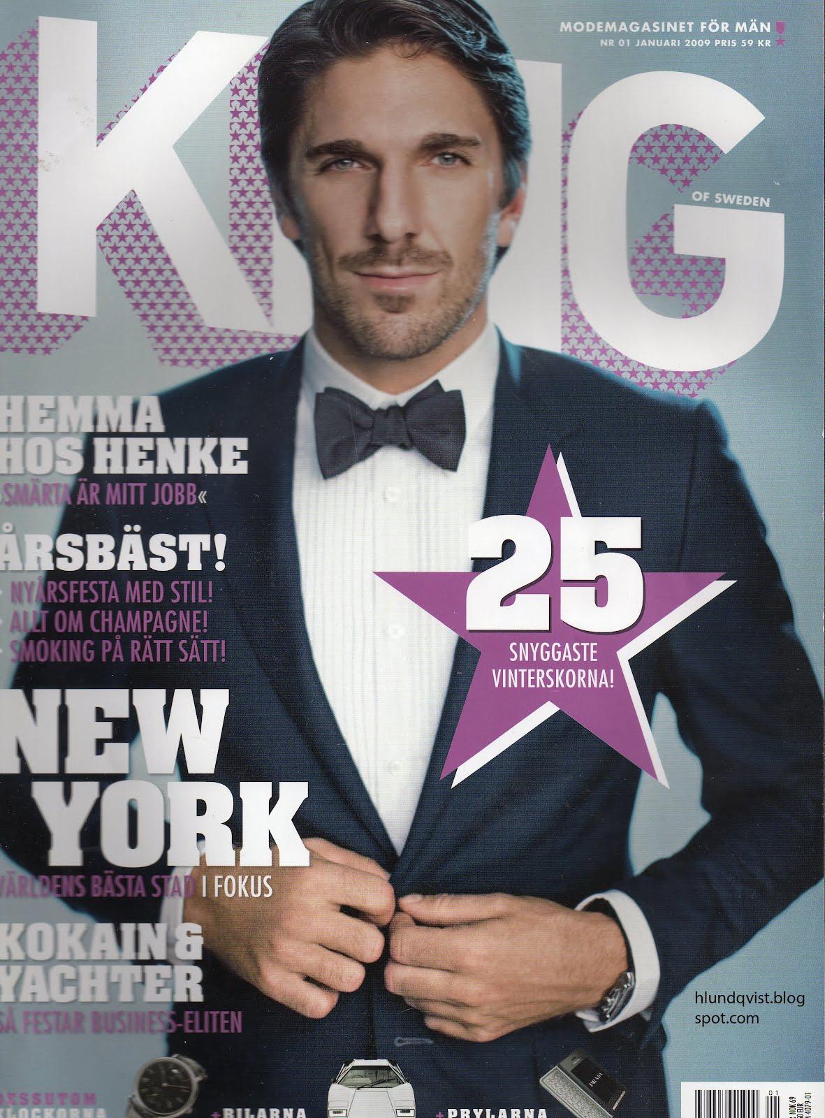 The Henrik Lundqvist Blog Henrik Lundqvist King Magazine Scans 2009