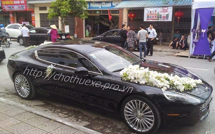Cho thuê xe siêu xe cưới Aston Martin Rapide tại Hà Nội - giá ưu đãi siêu xe mới 1