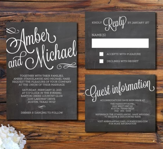 Chalkboard Wedding Invitations 004 - Chalkboard Wedding Invitations