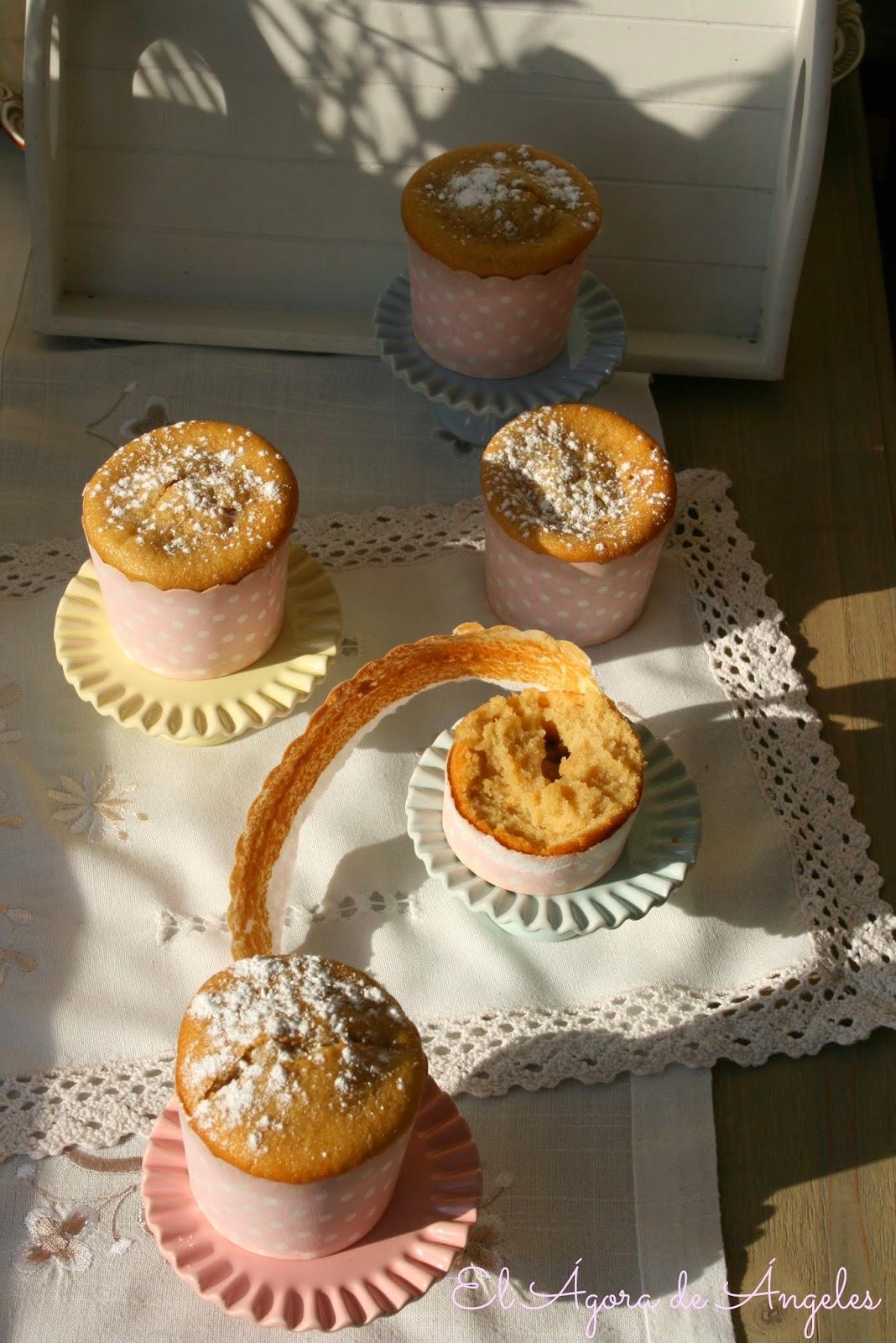 Muffins de compota de manzana,muffins de manzana, compota de manzan