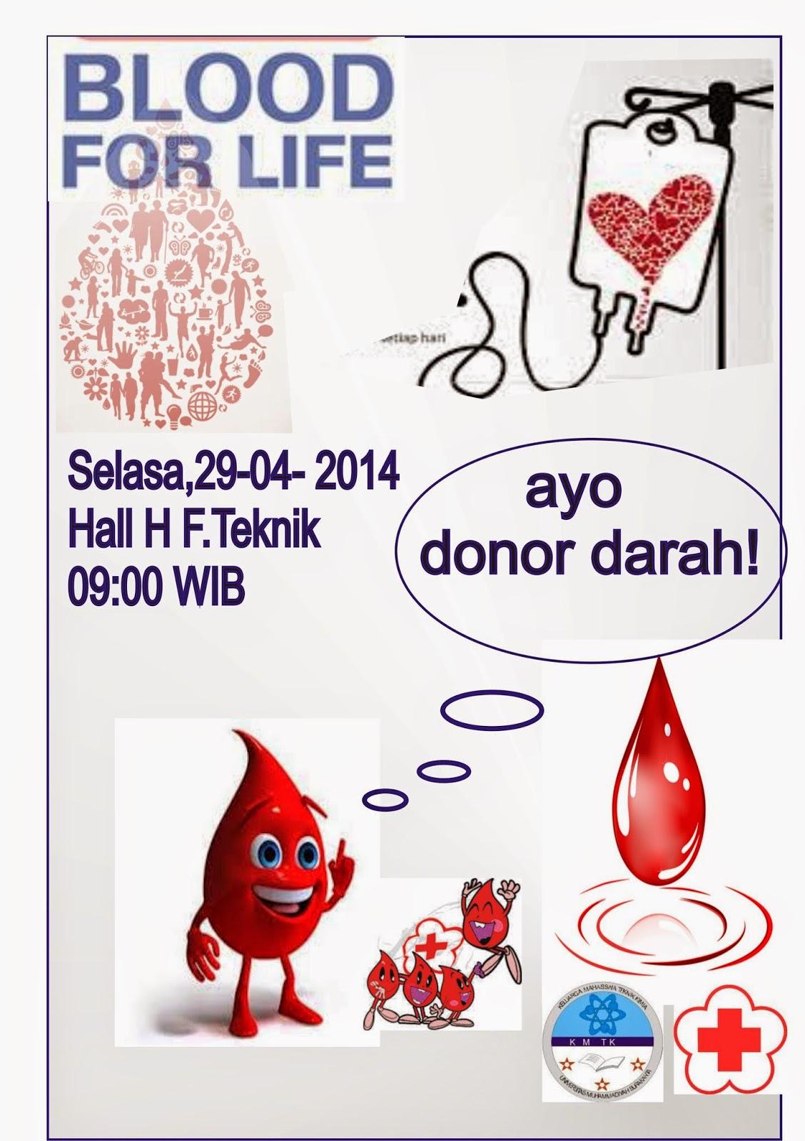 Pamflet Donor Darah KMTK UMS