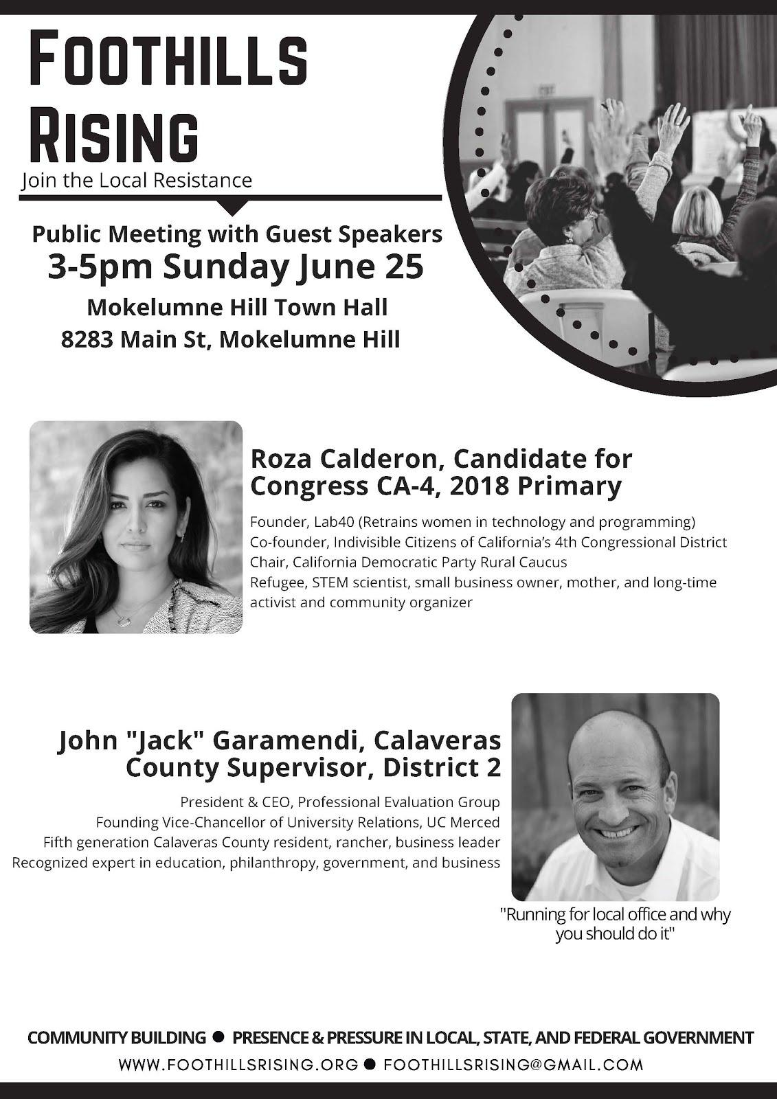 Foothills Rising Meeting - Sun June 25