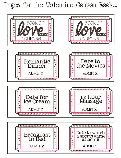 Imprimibles Y Diy Cupones Del Amor Para San Valentín Quiero Una
