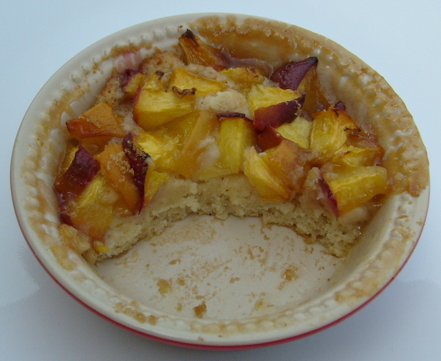how to cut a peach for cobbler