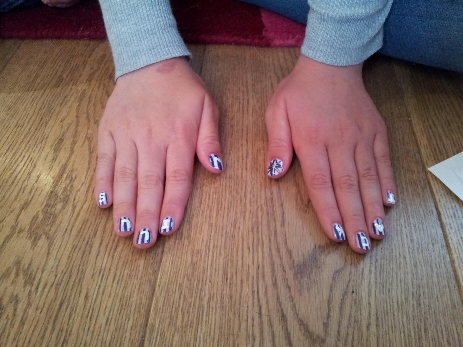 Kawaii Nail Art: Pamper Party Nails - Jack Wills Inspired