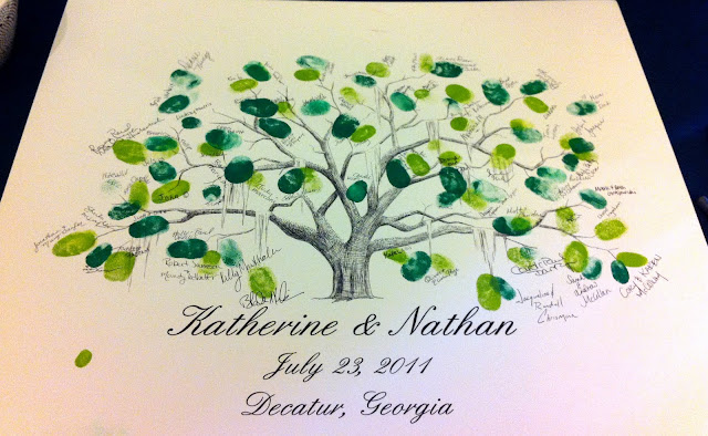 Guest Book of Thumb Print Style Tree
