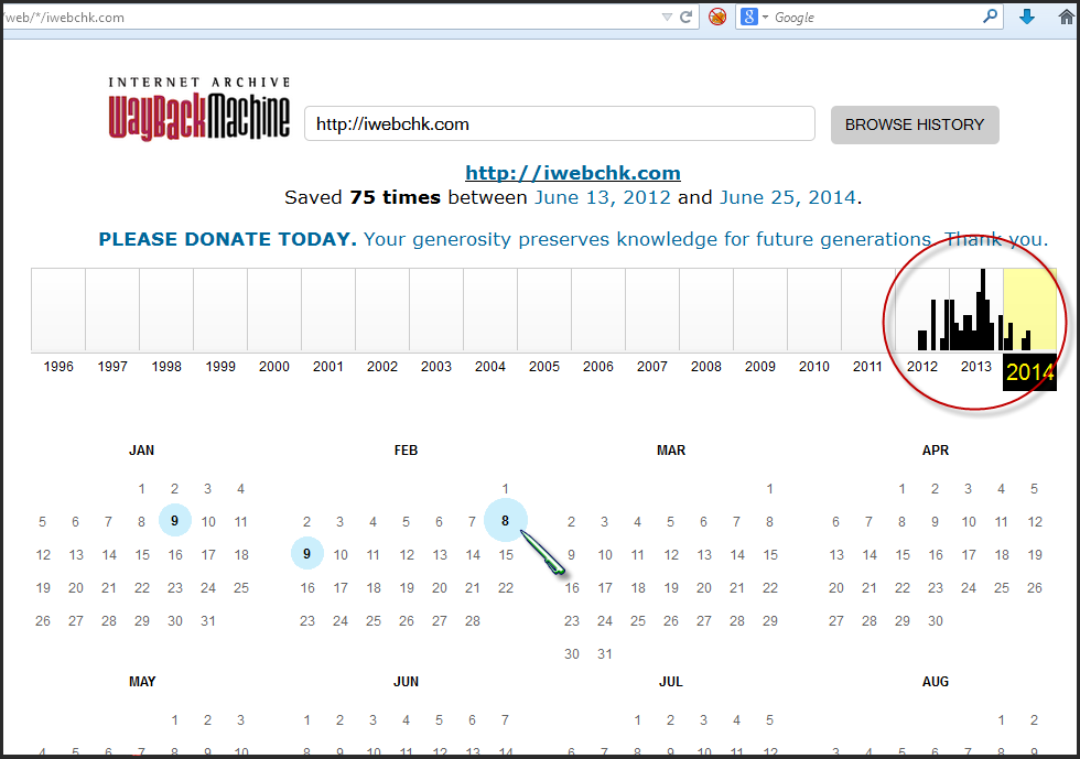 mencari informasi website dari archive org