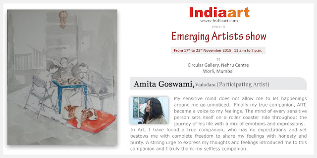 Artist Statement by Amita Goswami - participating artist in Emerging Artists show presented by Indiaart.com