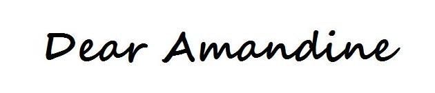 Dear Amandine