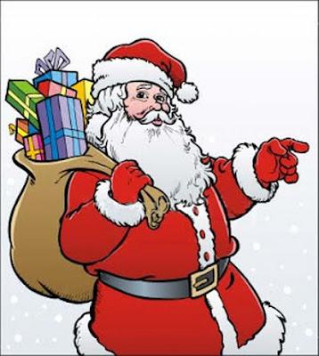 Dibujo de Santa o papá noel