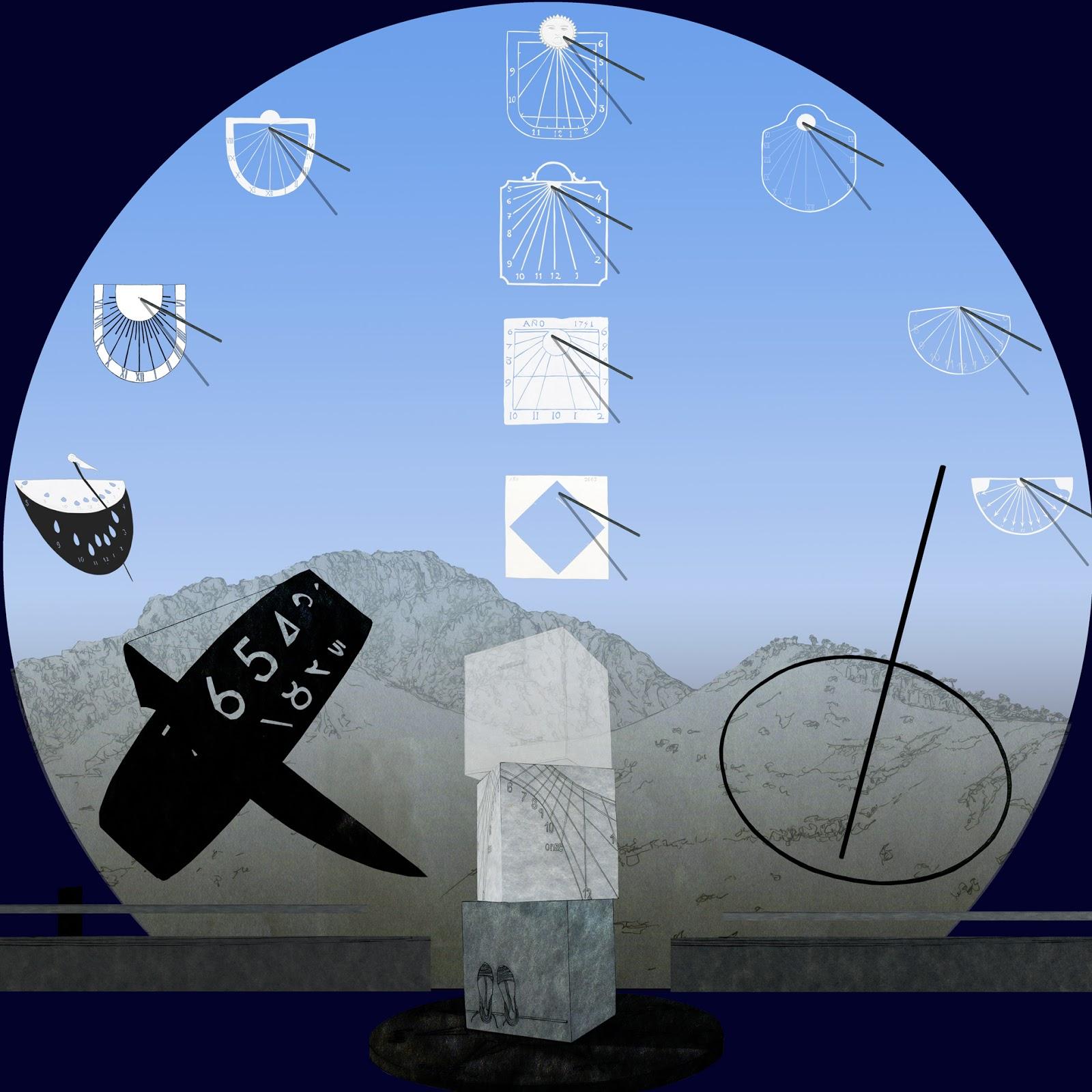 Vall de Albaida, relojes de sol, turismo matematico, dibujo