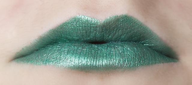 my beauty addiction lipstick swatch swatches emerald green