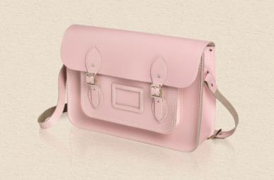 pale pink cambridge satchel