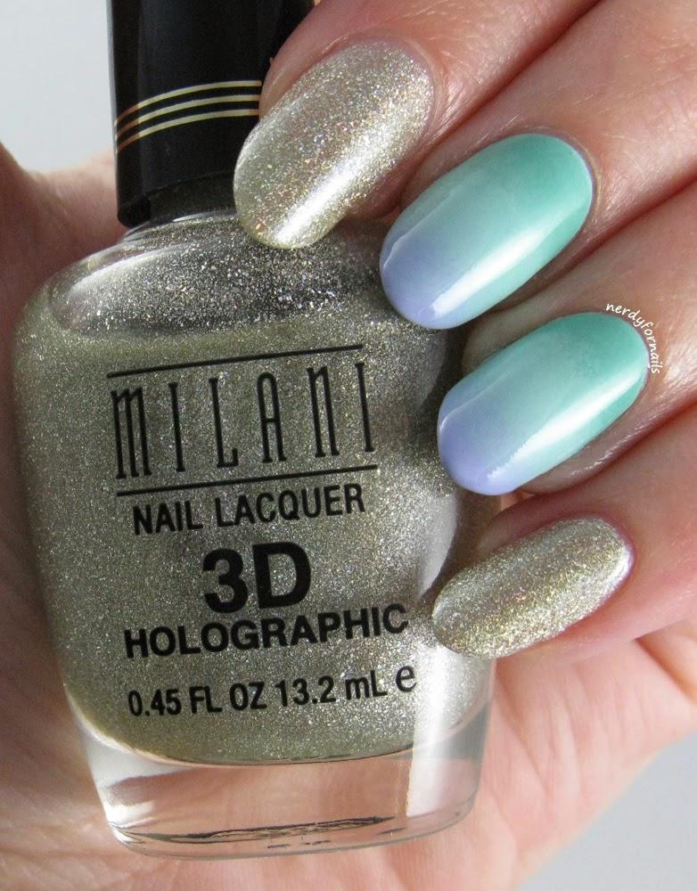 Pastel Gradient Ombre Milani 3D Holographic HD
