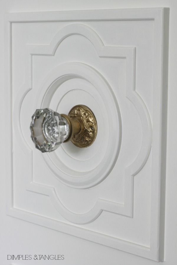 ... and medallions on the inside of the doors too. I really like that even when the doors are open into the bedroom the pretty details can still be seen ... & DIY CUSTOM DOOR MOULDING USING A CEILING MEDALLION - Dimples and Tangles