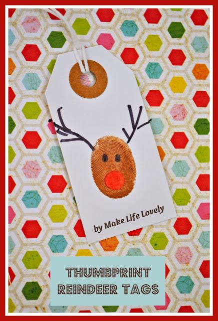 Etiqueta artesanal para o natal