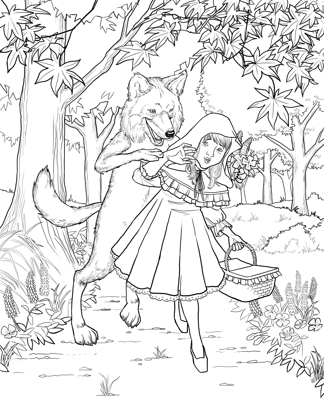 red riding hood coloring pages - photo#17