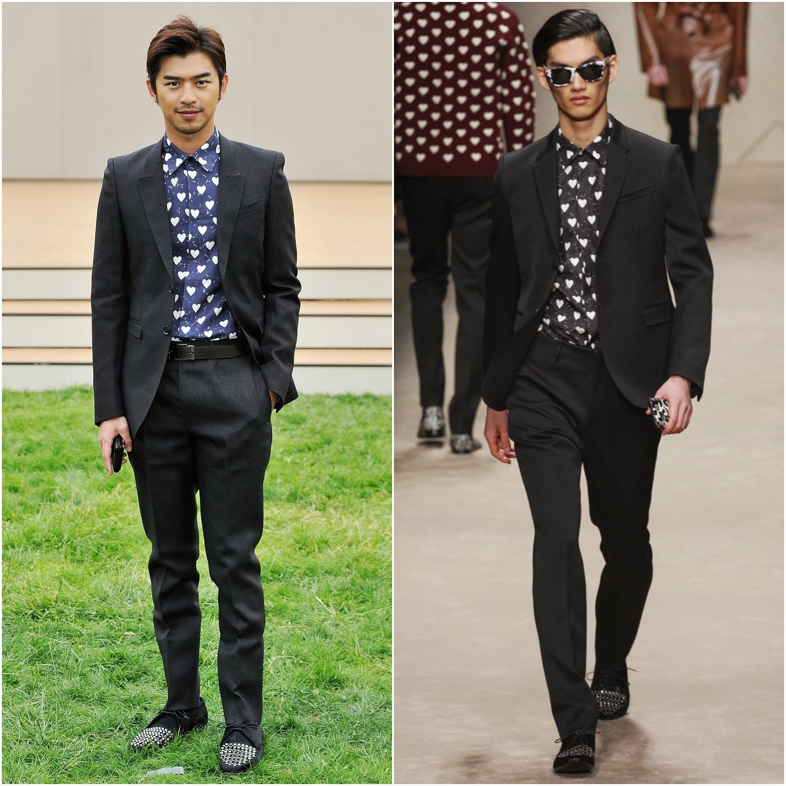00O00 Menswear Blog: Chen Bolin [陳柏霖] in Burberry Prorsum - Burberry Prorsum Menswear Spring Summer 2014, London