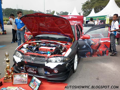 Modified Wira Autoshow car