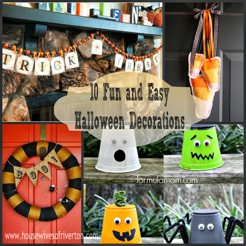 10 fun and easy halloween decorations housewives of for Easy decorations to make for halloween