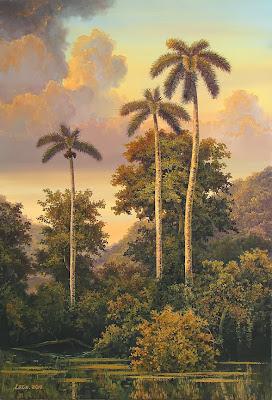 ocaso-con-palmeras-al-oleo