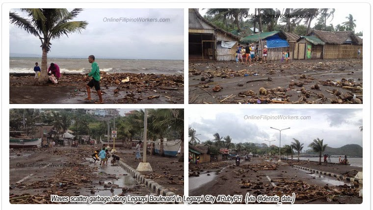 UPDATE: Albay under calamity now experiencing storm winds and waves