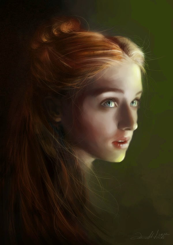 10-Sansa-Stark-Ania Mitura-GoT-Game-of-Thrones-Digital-Paintings-www-designstack-co
