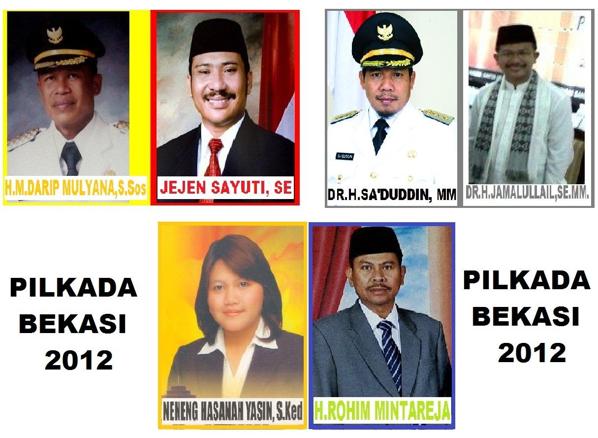 DPK GEPENTA KAB BEKASI 3 PASANGAN CALON BUPATI BEKASI 2012 2017
