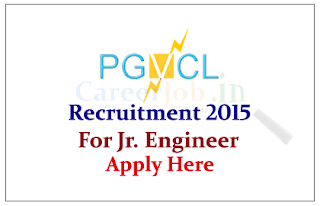 Paschim Gujarat Vij Co. Limited Recruitment 2015 for the post of Junior Engineer