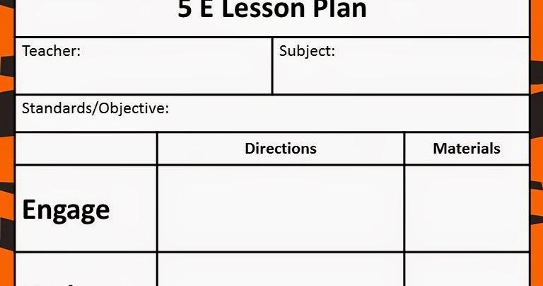 5 e instructional model lesson plans